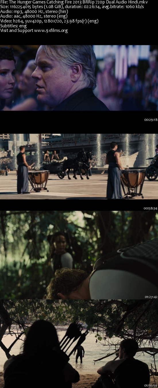The Hunger Games Catching Fire 2013 BRRip 720p Dual Audio Hindi
