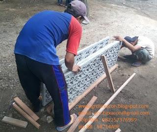 "panel GRC krawangan aksara Bali ""Ang Ung Mang"" siap kirim"