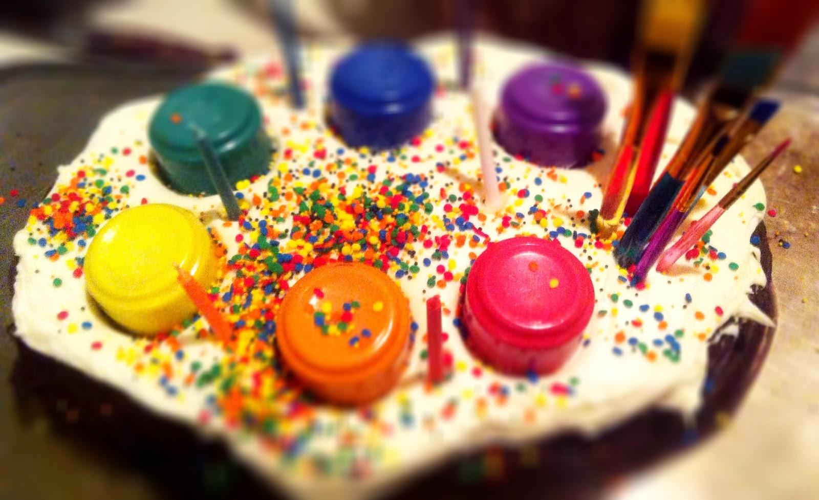 Heirloom Catering Painter S Birthday Cake Hack