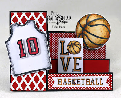 Our Daily Bread Designs Stamp/Die Duos: Basketball, Stamp  Set: All-Star Jersey, Paper Collection: Old Glory, Custom Dies: Sports Jerseys, Side Step, Pennant Flags, Lattice Background