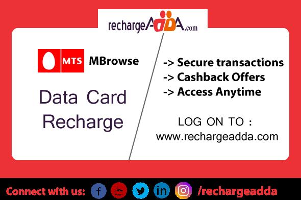 why choose rechargeadda for mts prepaid data card recharge online - Prepaid Internet Card