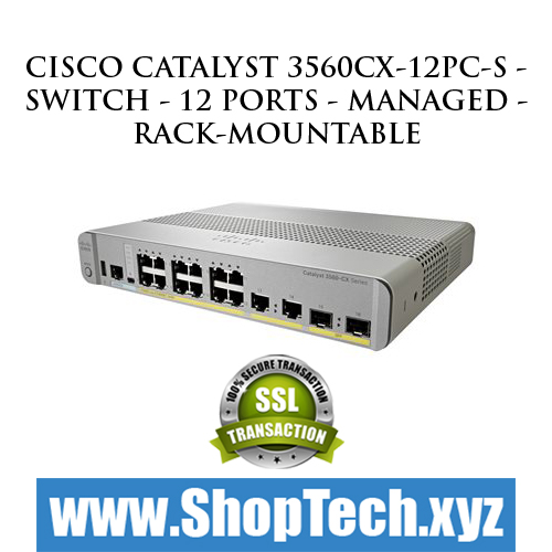 Cisco Catalyst 3560CX-12PC-S - Switch