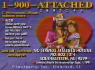 WWF / WWE: Summerslam 1991 -  Randy Savage and Miss. Elizabeth spent the hours before their wedding on the phone to fans