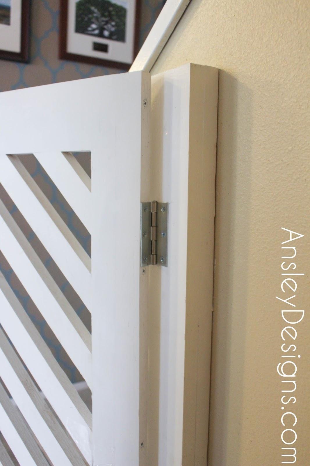 ansley designs diy modern herringbone baby or dog gate - diy modern herringbone baby or dog gate