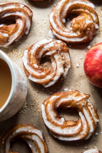 Mulled Apple Cider Chai French Crullers