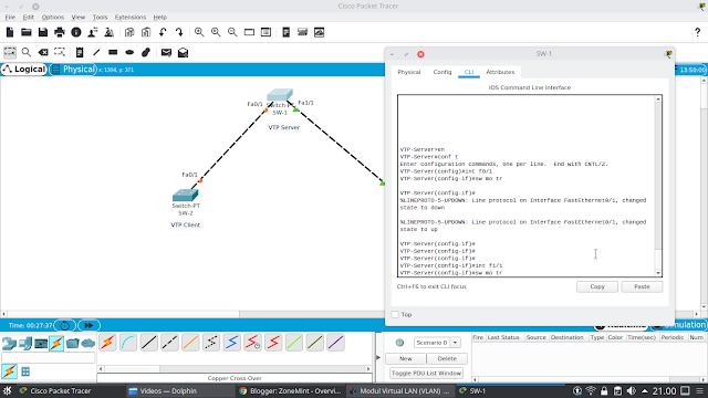 Konfigurasi VTP pada Cisco Packet Tracer