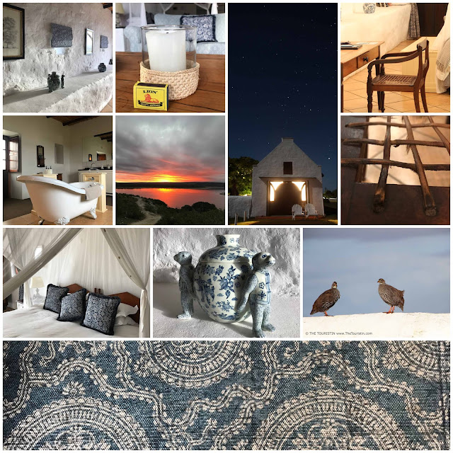 The country and cottage style interior design of the Vlei Suite at the De Hoop Nature Reserve