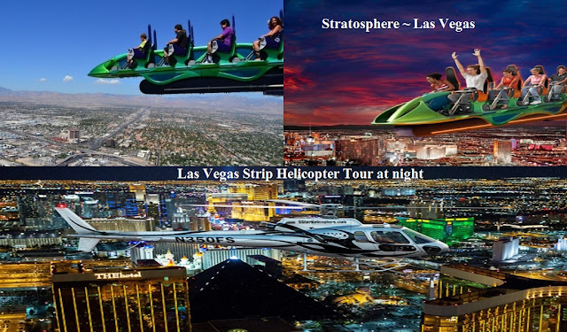 Stratosphere,Helicopter Tour Night Las Vegas