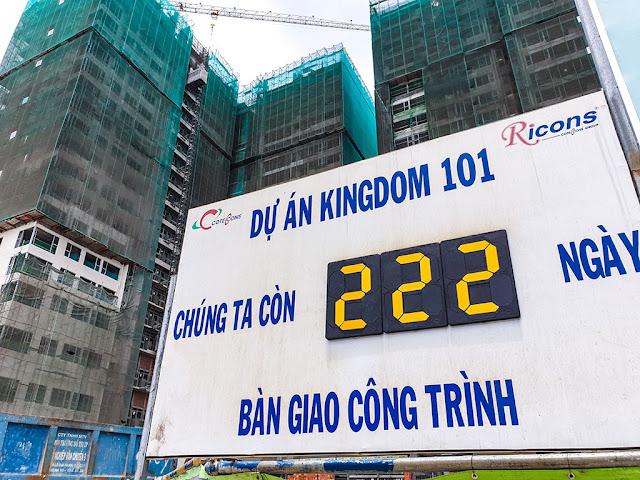 Đồng hồ đếm ngược tại dự án Kingdom 101 của Conteccons