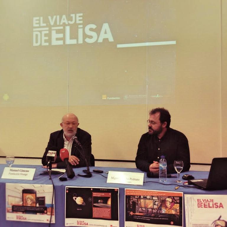 Manuel Gimeno y Miguel Lancho presentación El Viaje de Elisa