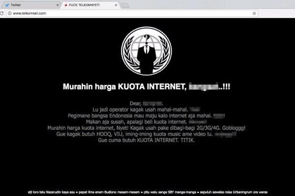 Situs Telkomsel Diretas, Berisi Keluhan Internet Mahal