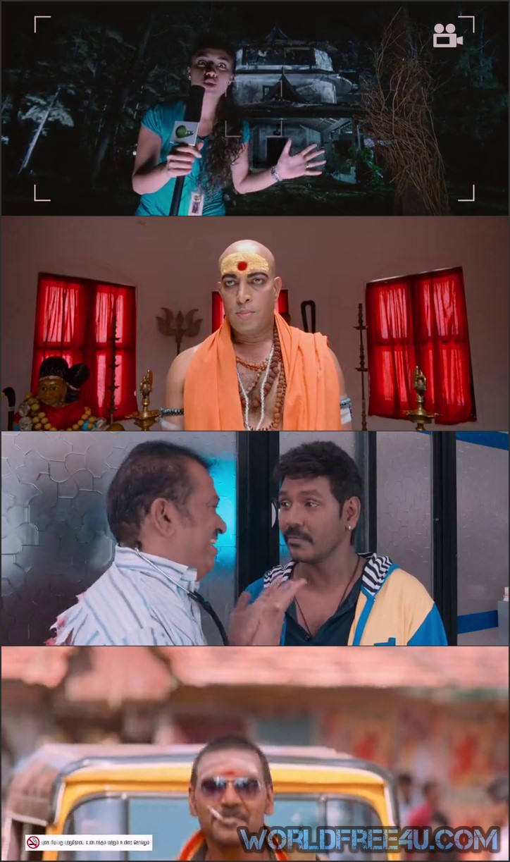 Screen Shot Of Kanchana 2 Muni 3 2015 300MB Hindi Dubbed Movie small Size PC Movie