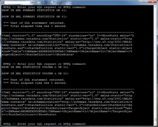 Wei's notes on Teradata: Teradata 14 0 new syntax: SHOW