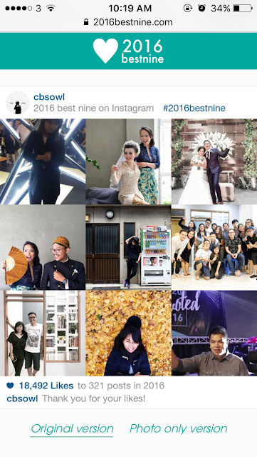 My Instagram Best 9 : 2016