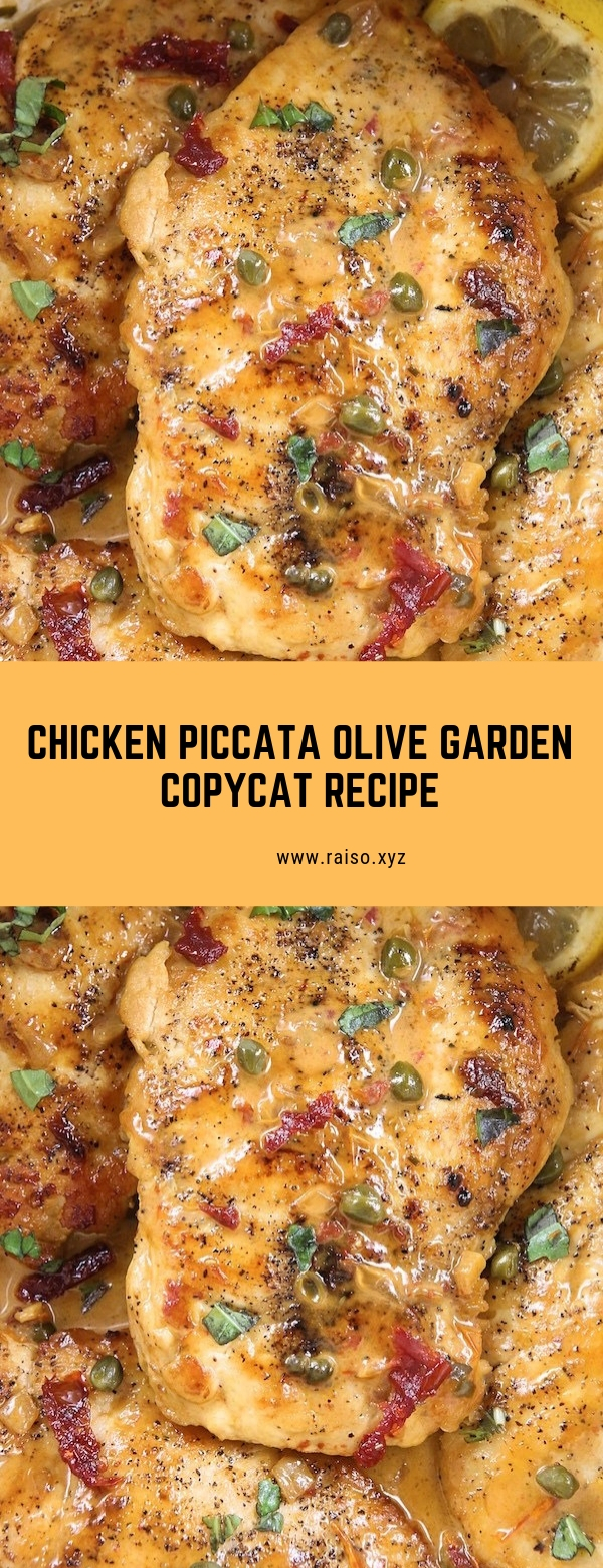 CHICKEN PICCATA OLIVE GARDEN COPYCAT RECIPE #chicken #glutenfree #maincourse