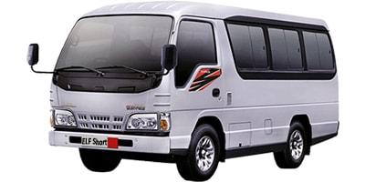 sewa mobil di bali dengan supir dan bbm jenis minibus ELF Short