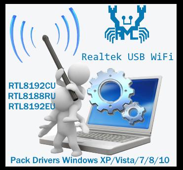 Pack Drivers Realtek RTL8192CU RTL8188RU RTL8192EU Wireless LAN drivers | Drivers para adaptadores USB WiFi con chipset Realtek