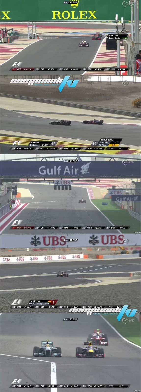 Carrera GP Bahrein Formula 1 Abril 21 HD 2013 Español