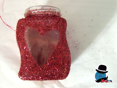 glitterare barattoli di vetro