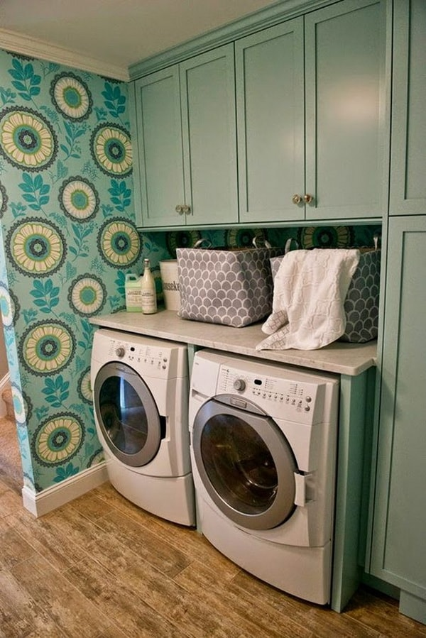 DIY Small Laundry Room Organization Ideas With Top Loading Washer 11