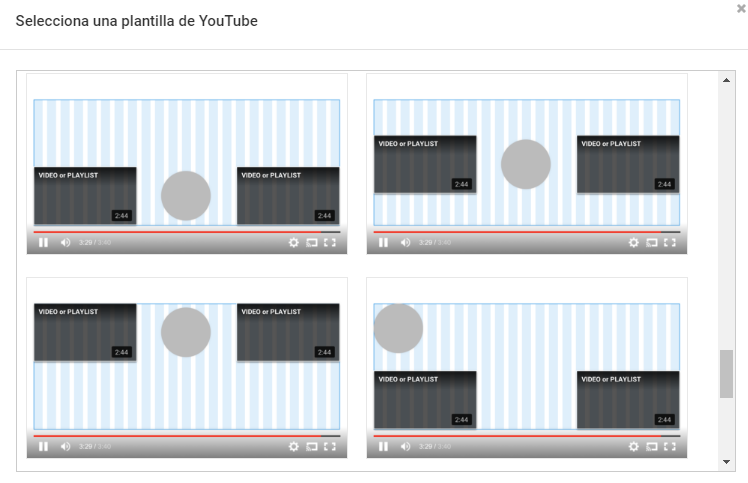 Pantallas finales de Youtube 3