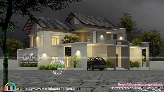 Fusion home architecture Kerala