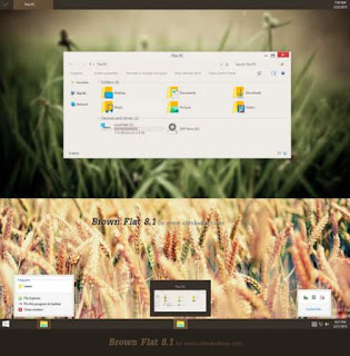 Visual style windows 8.1 brown flat theme