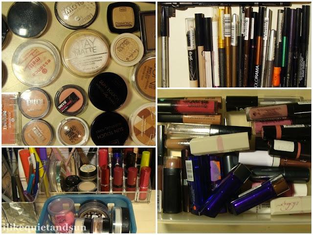 Porządki w kosmetykach do makijażu