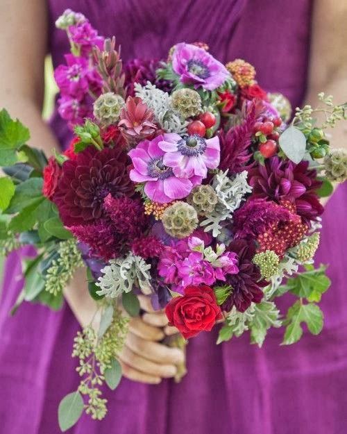 Fall Wedding Flowers List: Castle Manor: Fall Wedding Bouquet Ideas
