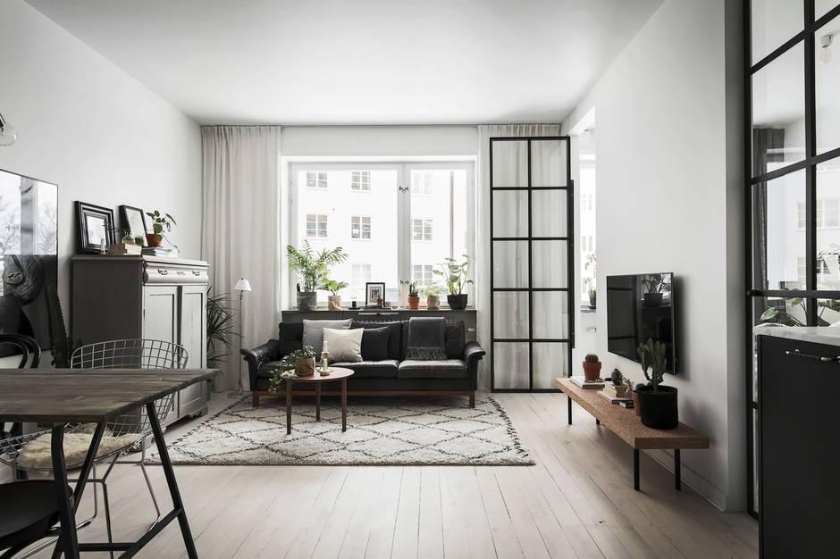 Scandiconcept 42 metry kwadratowe for Departamentos decorados en blanco