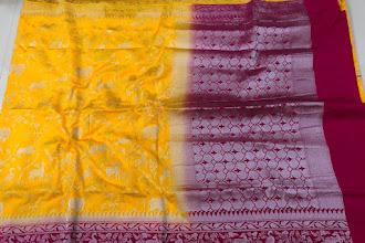 Silver Weaving Kaatan Dupion Sarees