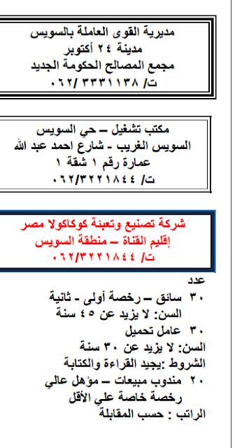 وظائف خاليه بـ شركه تصنيع وتعبئه كوكاكولا مصر