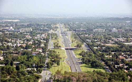 imagem aérea de Islamabad – Paquistão