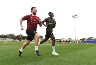 injured danny welbeck with strength and conditioning coach in dubai