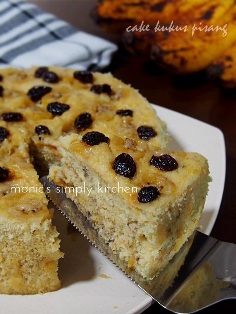 resep cake pisang tanpa zat aditif