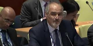 embajador sirio ante la ONU, Bashar Jaafari