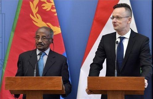 <Hungarian FM held talks with Eritrean FM Osman Saleh