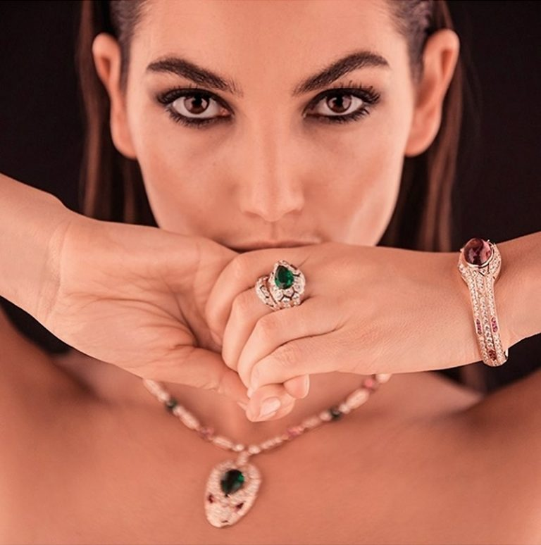 Lily Aldridge for Bulgari Serpenti Jewelry