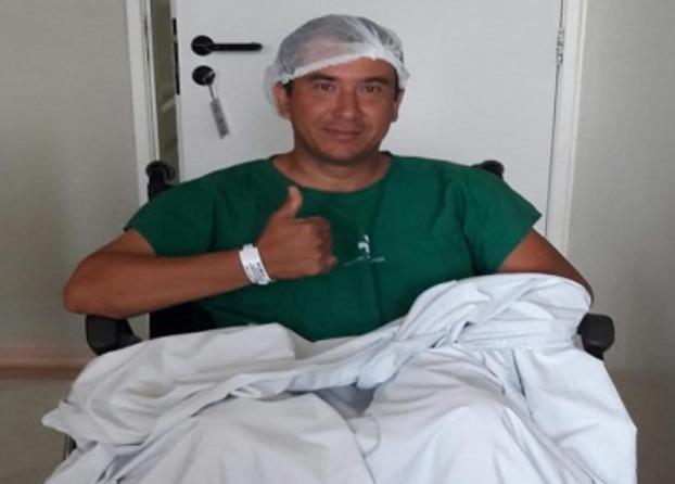 PM lotado no 9º BPM em Delmiro Gouveia após descobrir compatibilidade, faz doação de Medula Óssea a paciente dos Estados Unidos