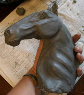 sculpt a clay horse, horse sculpture tutorial, horse sculpture demonstration