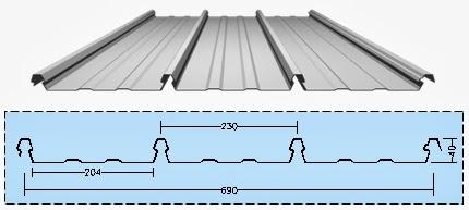 Ukuran Standar Baut Baja Ringan Atap Alsun   Metal Gelombang Zincalume Galvalume ...
