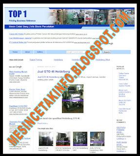Website mesin percetakan bisnis online