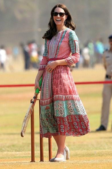 Kate Midleton vestidos - Viagem Índia ao lado de um chef do país