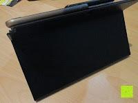 aufstellen hinten: Sharon Galaxy NotePRO 12.2 Hülle mit magnetisch befestigter Bluetooth Tastatur und integriertem Touchpad | Ultraslim Schutzhülle | deutsches Layout | Tastatur herausnehmbar