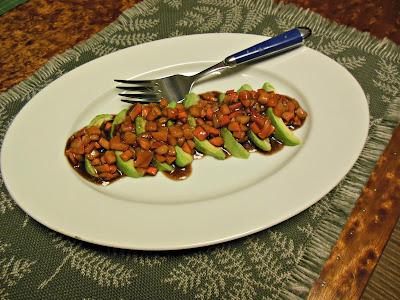 Avocado Slices with Persimmon Vinaigrette
