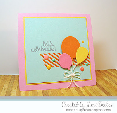 Let's Celebrate card-designed by Lori Tecler/Inking Aloud-stamps and dies from Lil' Inker Designs