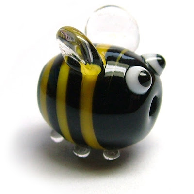 Lampwork glass 'Bumblebead' by Laura Sparling