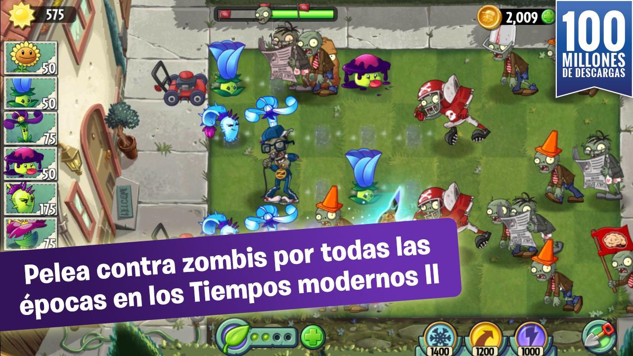 descargar plantas vs zombies 2 apk