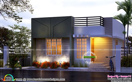 kerala home design. Tiny low cost Kerala home design in 700 sq ft and floor plans