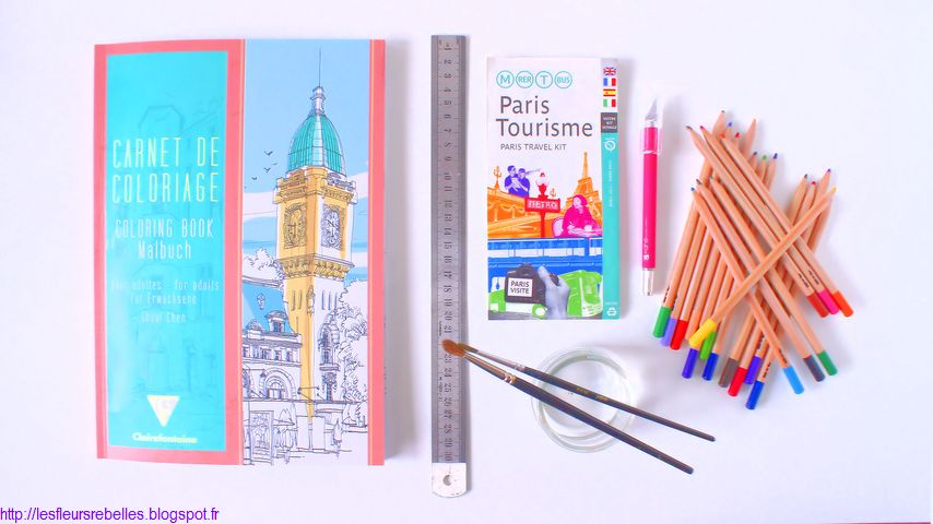 DIY scrapbooking cahier coloriage Clairefontaine aquarelle